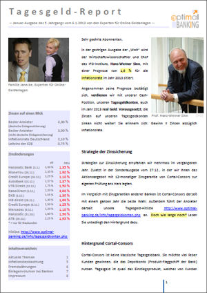 Tagesgeld-Report 1/2013