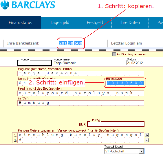 Swift Code (BIC) - BARCDEHA - BARCLAYCARD BARCLAYS BANK PLC - HAMBURG - GERMANY (DE) Swift Code BARCDEHAXXX also known as BIC Code is a unique bank identifier of BARCLAYCARD BARCLAYS BANK PLC and it's used to verify financial transactions such as a Bank Wire Transfers (International Wire Transfers).