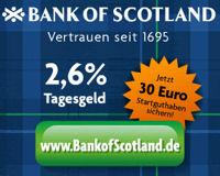 Neuer Zinssatz der Bank of Scotland