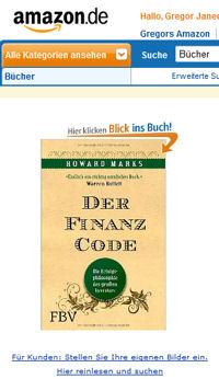 Finanz-Code bei amazon.de