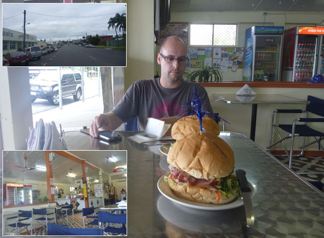 Burger in Babinda, Queensland