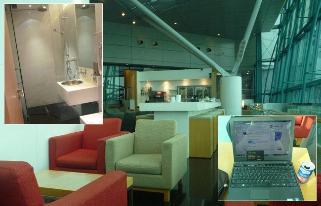Flughafen Lounge in Singapur
