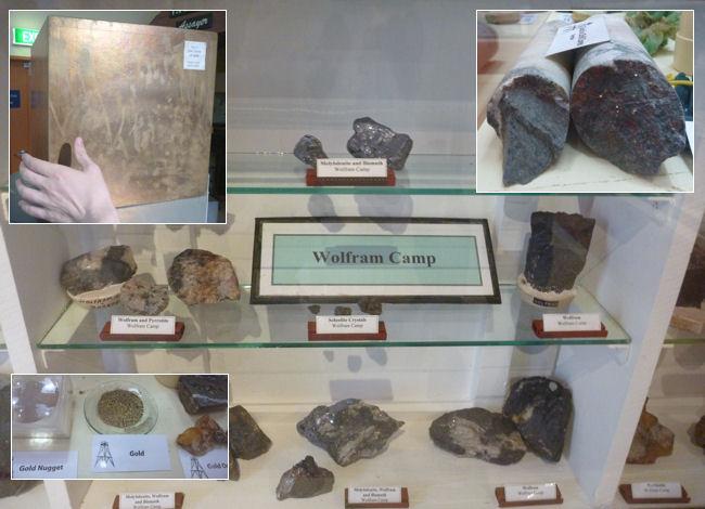 Wolfram Camp im Museum und Gold
