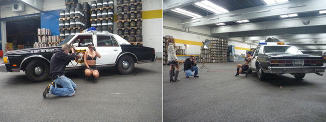 Weitere Shooting-Fotos von enigma und dem Police Car