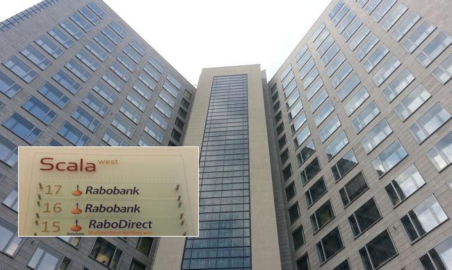 Oben in diesem Frankfurter Bürohochhaus werden Ihre Kontoanträge von Mitarbeitern der RaboDirect bearbeitet.