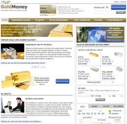 Bildschirmdruck GoldMoney