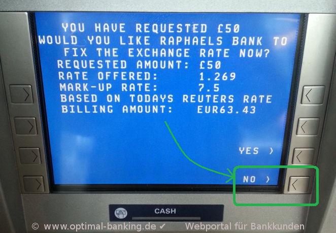 Geldautomat im Ausland - Anleitung
