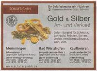Gold- und Silberankauf (Zeitungsanzeige)