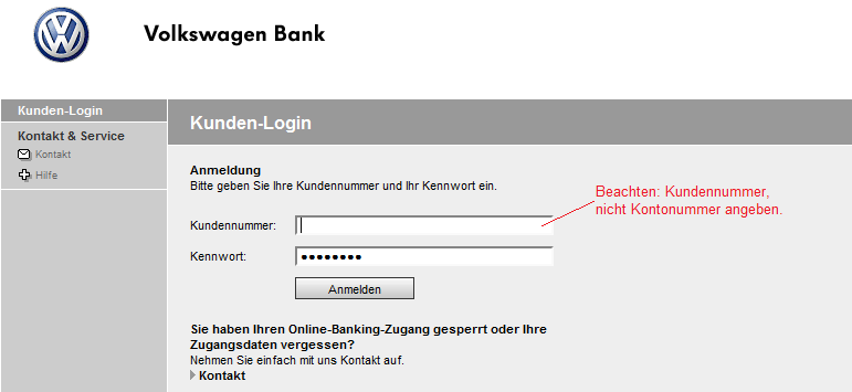 Vw Bank Login