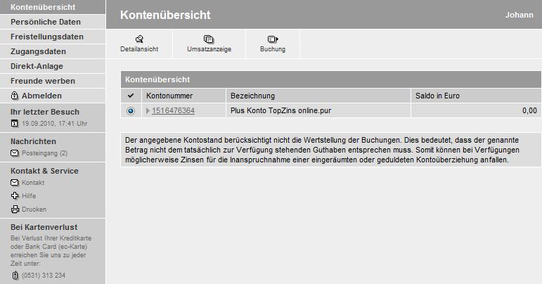 Volkswagen Bank Online